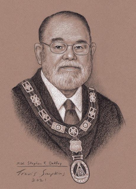 M.W. Stephen F. Oakley. Grand Master. Grand Lodge of Illinois. by Travis Simpkins