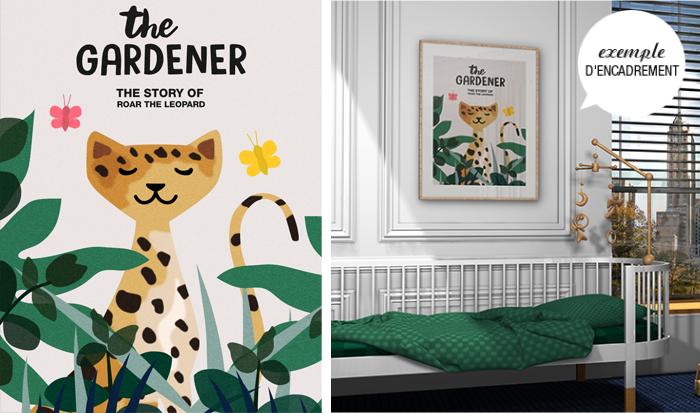 déco chambre enfant léopard