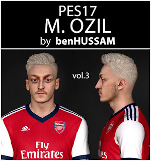 PES 2017 Faces Mesut Özil by BenHussam