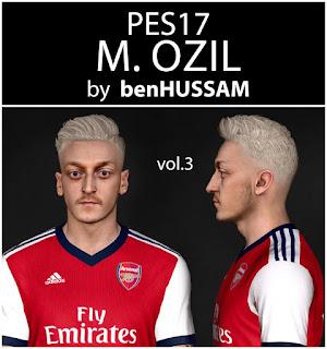 PES 2017 Faces Mesut Özil by BenHussam