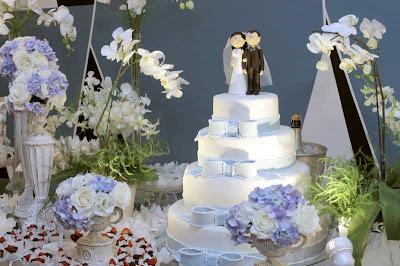 5 Detalhes de um casamento em azul e branco...