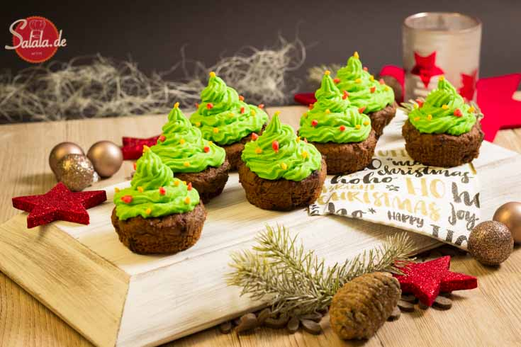 Tannenbaum Cupcakes Low Carb von Salala