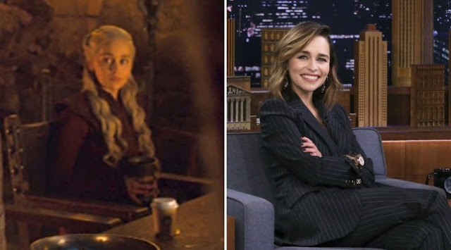 Emilia Clarke Finally Reveals The GOT Coffee Cup Culprit's Identity