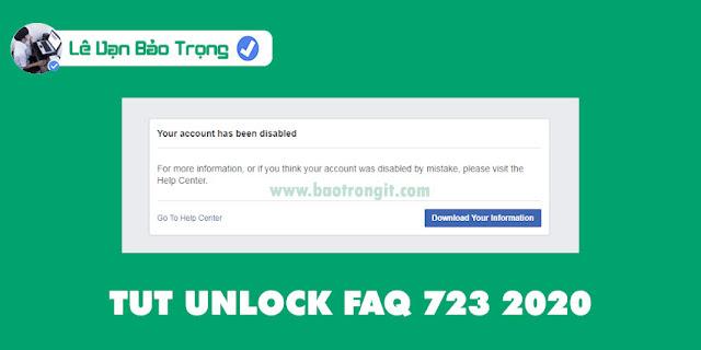 Hướng dẫn unlock FAQ 723 mới nhất