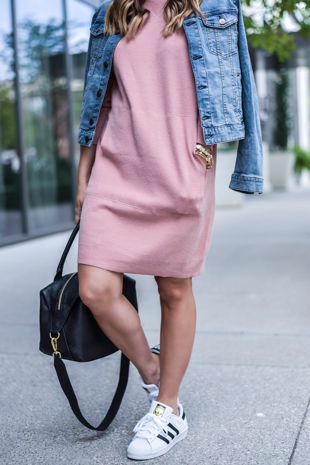 Sweater dress and sneakers - Flaunt and Center