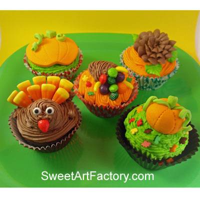 sweet art factory thanksgiving cupcakes super simple