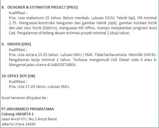 Contoh Surat Pengalaman Kerja Pt Indomarco Prismatama ...