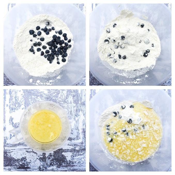 Vegan Blueberry Lemon Cake - Step 2