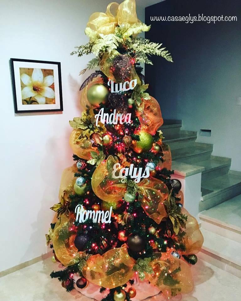 Casa eglys decoraci n arbol de navidad 2016 - Decoracion para arbol de navidad ...