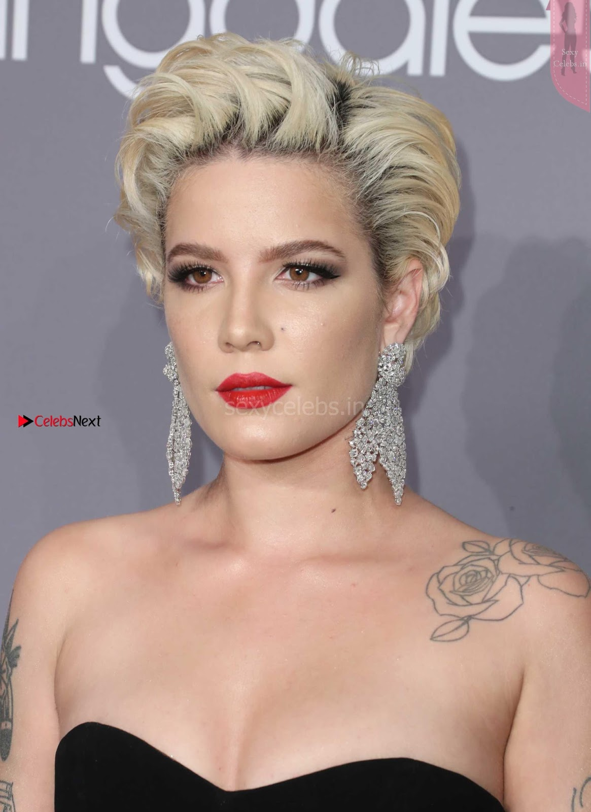 OMG Sexy Halsey upskirt What beautiful nude thighs amazing ~ SexyCelebs.in Exclusive