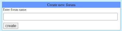 Enter Forum Name