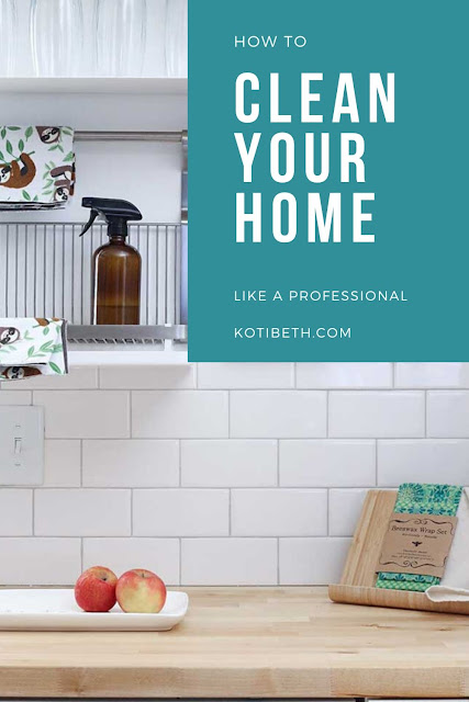 How to clean your home like a professional. Get tips from the pro cleaners for a clean home.  How to keep a happy home with these hacks and habits for a clean house. Get good idea for deep cleaning your home. Learn how to keep a clean home with these expert tips. Find inspiration for keeping a clean home. #homemaking #cleaning #cleanhouse