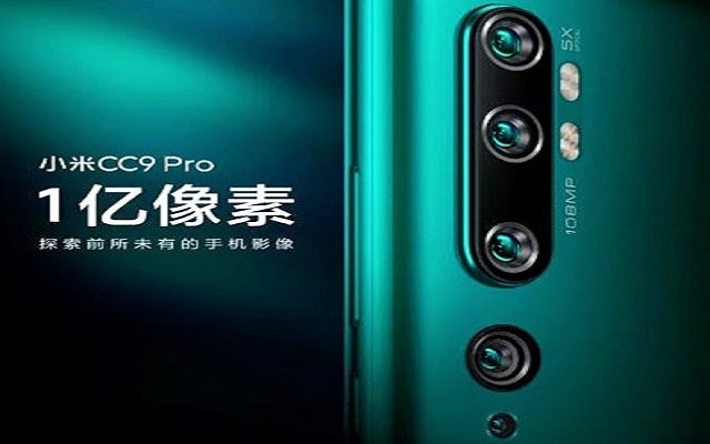 Mi CC9 Pro With Five Real Cameras To Launch On November 5