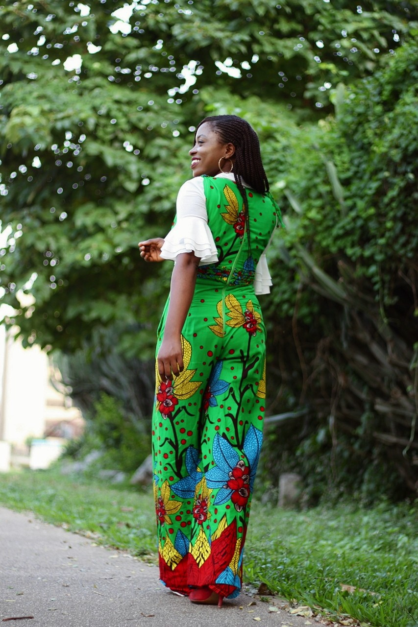 Made in Nigeria Ankara print jumpsuit