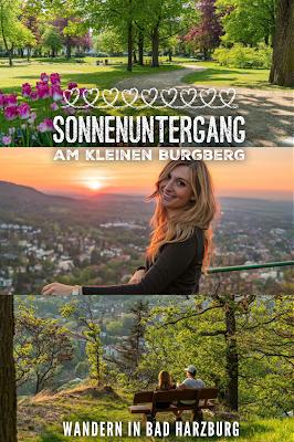 Sonnenuntergang am kleinen Burgberg  Wandern in Bad Harzburg  Wanderung Harz  Kurpark und Burgberg Bad Harzburg 21