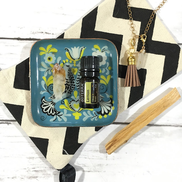 Citrine Crystal with Doterra Lemon