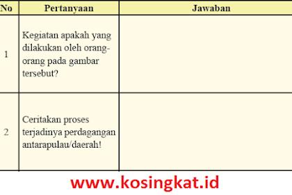 Kunci Jawaban IPS Kelas 8 Halaman 156, 157 Aktivitas Individu Tabel 3.4