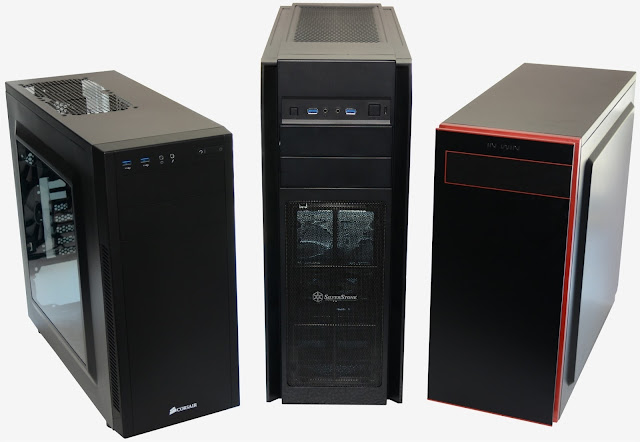Empty computer system cases