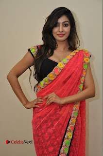 Actress Vaibhavi Joshi Pictures in Red Saree at Guntur Talkies 2 Movie Opening  0045.JPG