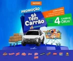 Cadastrar Nova Promoção Atacadão Só Tem Carrão - 4 Carros 0KM e Compras 1 Ano Toda Semana