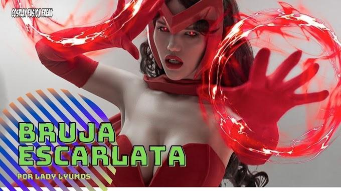 Lady Lyumos con su cosplay de Bruja Escarlata