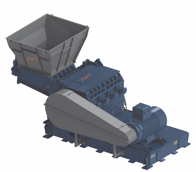 Big crusher for breaking the plastic products for whole plastic wash line