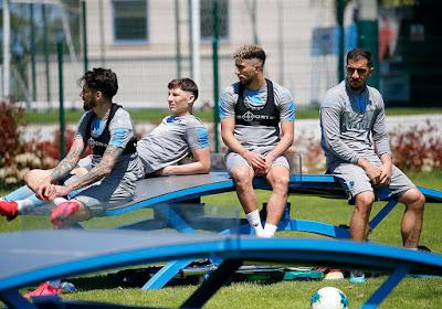 Trabzonspor antrenman yaan futbolcular