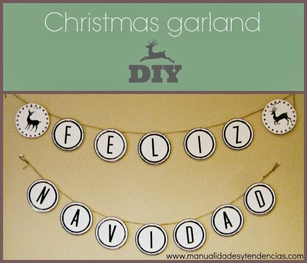 guirnalda navideña imprimible gratis / free printable Christmas garland / guirnalde de Noël prête à imprimer gratuite