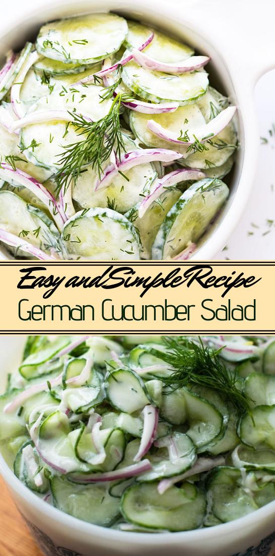 German Cucumber Salad #vegan #vegetarian #soup #breakfast #lunch