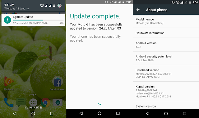 Moto G 2015 is getting new update with July and October Security patch