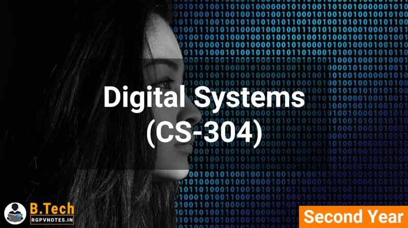 Digital Systems (CS-304) B.Tech RGPV notes AICTE flexible curricula