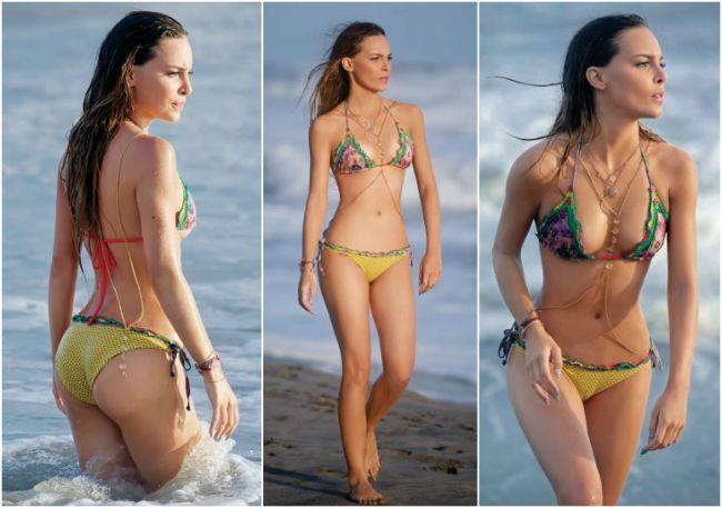 Belinda a fost surprinsa de paparazzi in bikini cum arata la plaja corpul celei mai operate vedete din