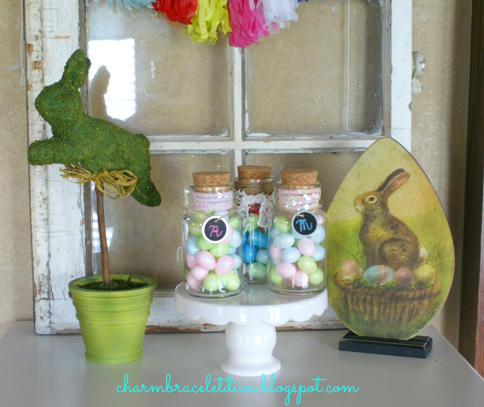 Our Hopeful Home: Vintage-Inspired Easter Candy Jars