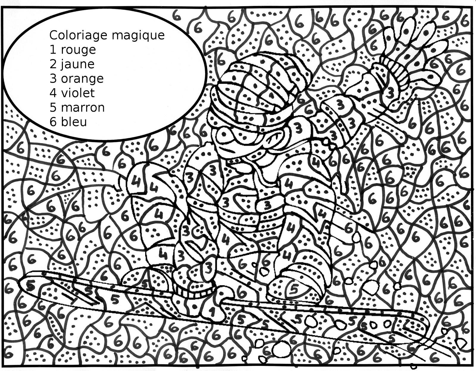 Coloriage Magique Cm2 Pdf.Coloriage Anti Stress Numerote A Imprimer