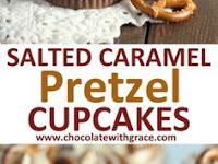 Salted Caramel Pretzel Cupcakes