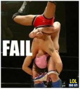 "funny fail pictures shows a naughty wrestling from ""LOL me on"""