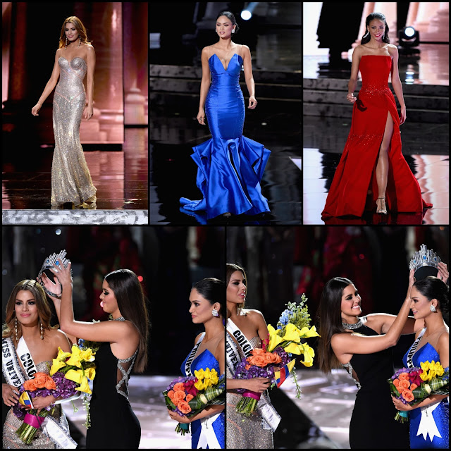 SASHES AND TIARAS.....Miss Universe 2015 Finals: EVENING GOWN Recap + the AY DIOS MIO/Oh My God! Moment