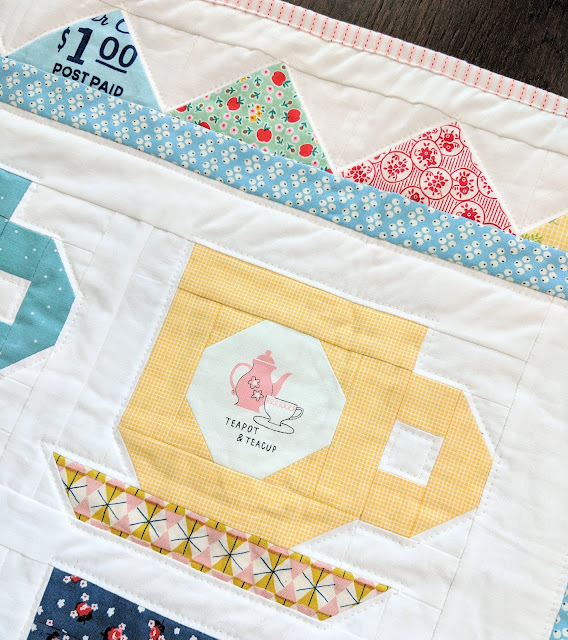 Tea Party Quilt for American Patchwork & Quilting Magazine by Heidi Staples of Fabric Mutt