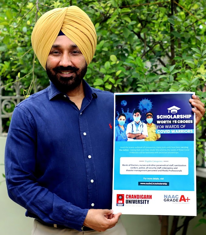 Chandigarh University announces Rs 5 Crore COVID-19 Warriors Scholarship