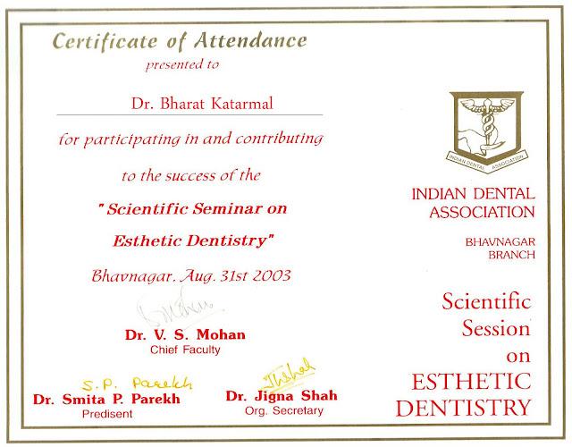 Scientific Session on Esthetic Dentistry in Bhavnagar by Dr. V. S. Mohan
