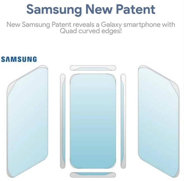 Samsung Patenkan Smartphone Layar Quard Curve