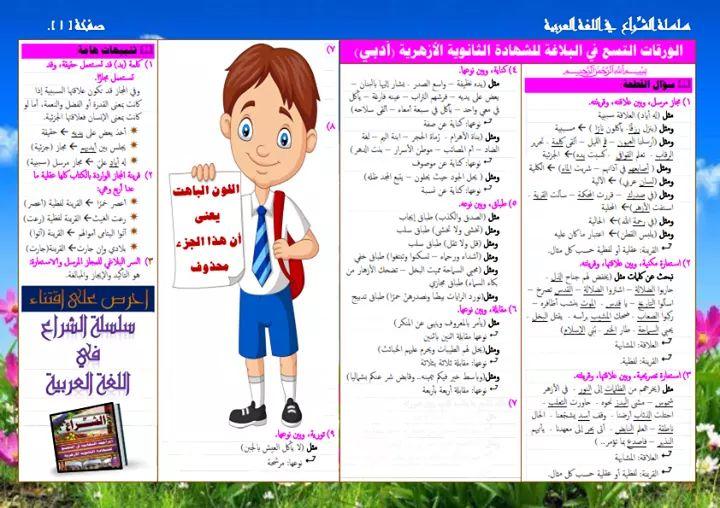 ليلة امتحان البلاغة للثانوية الأزهرية، أهم أسئلة وتوقعات البلاغة للصف الثالث الثانوى الازهرى