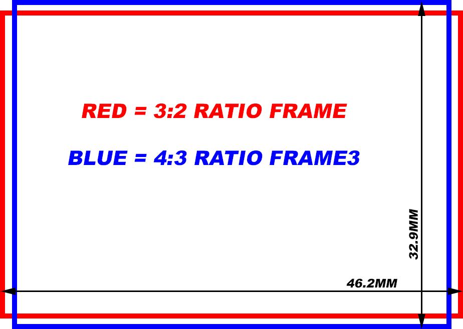Соотношение сторон 3:2 и 4:3 в одном сенсоре