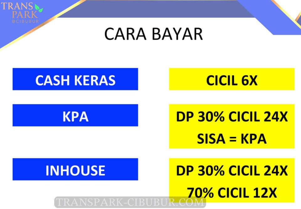 Term pembayaran KPA Apartemen TransPark Cibubur