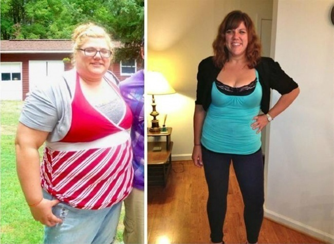 #11. When you lose weight, the transformation isn't always limited to your waist size. - 23 Inspirational Before/After Photos Of People Who Can Say 'I Did It.'