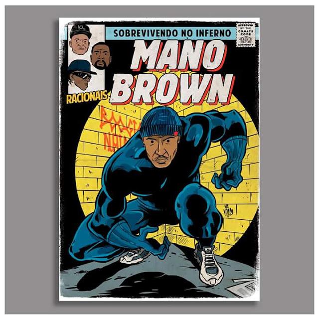 Mano Brown é retratado como o Pantera Negra, o herói da Marvel.