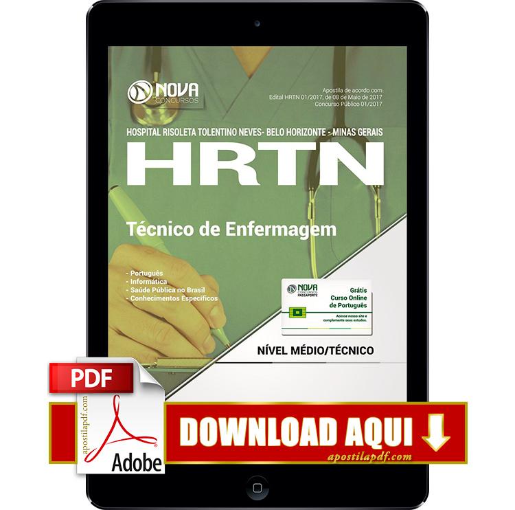 Apostila HRTN 2017 PDF Download Técnico de Enfermagem