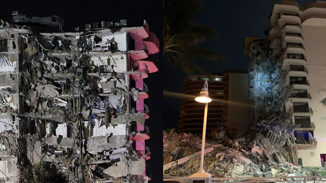 Building Collapses In Miami, Numerous Causalities Feared As First Responders On Scene