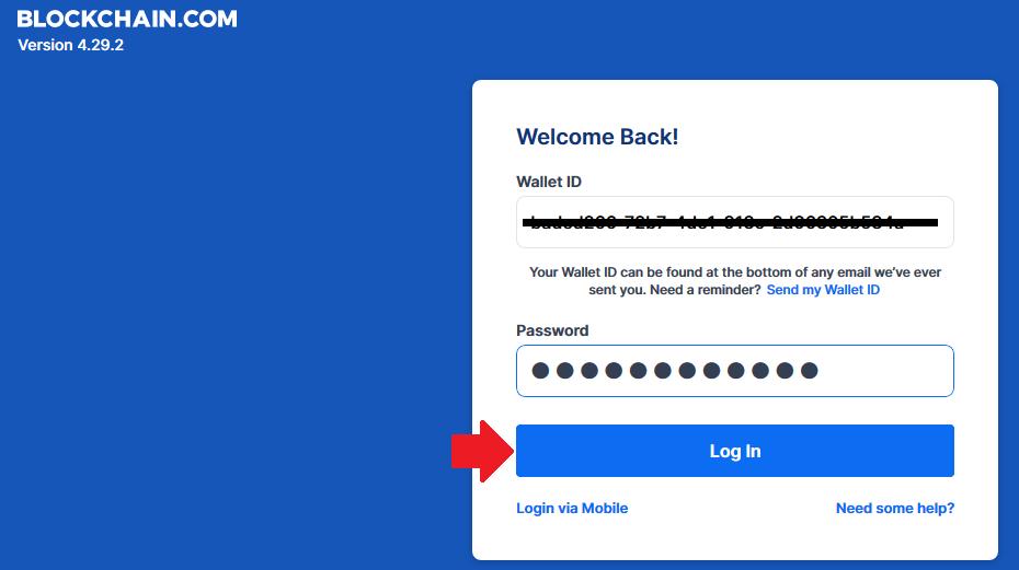 bitcoin wallet password