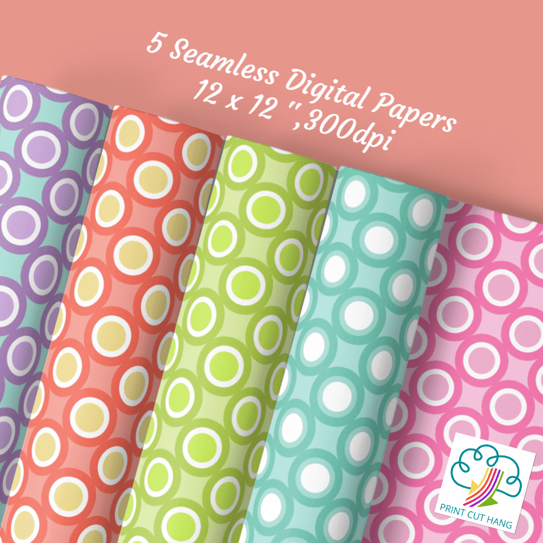 Spring Dots and Circles Papers
